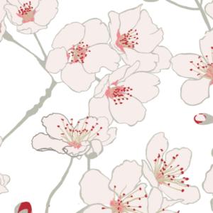 Luxury Wallpaper Cherry Blossom Design